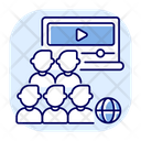 Webcam Audience Broadcast Icon
