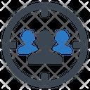 Audience Targeting Human Resources Market Target Icon
