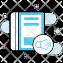 Audio Book Ebook Online Education Icon