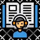 Audio Book Book Lesson Icon