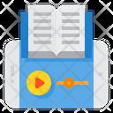 Audio Book Ebook Elearning Icon