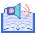 Audio Book Ebook Study Icon