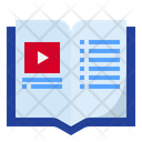 Audio Book Video Learning Video Tutorial Icon