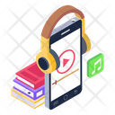 Audio Learning Audio Education Mobile Lecture Icon