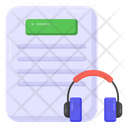 Audio Learning Audio Study Audio Course Icon