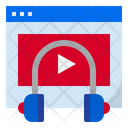 Audio Learning Video Learning Audio Lesson Icon