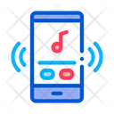 Illustration Music Phone Icon