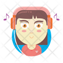 Audiophile girl Icon