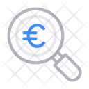 Audit Search Euro Icon