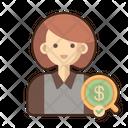 Auditor Female Female Auditor Icon