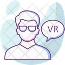 Augmented Reality Gadget Headset Icon