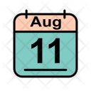 August Calendar Date Icon