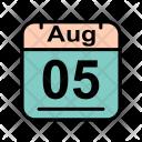 August Calendar Date Icon
