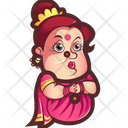Aunty Not Happy Icon