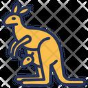 Australia Kangaroo Symbol Icon