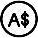 Australia Dollar Currency Coin Icon