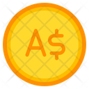 Australian Dollar Coin Currency Icon