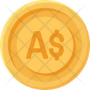 Australian Dollar Coin Coins Currency Icon