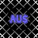 Australian Dollars Currency Money Icon