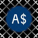 Australian Dollars Financial Banking Icon
