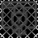 Blockchain Crypto Mining Icon