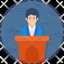 Lecture Orator Speech Icon