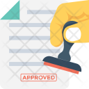 Authorized Attested Stamp Icon