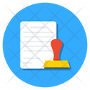 Authorized Attested Approved Document Icon