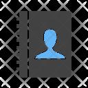 Authorship Contact Book Icon