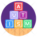 Alphabetic Blocks Autism Blocks Learning Blocks Icon