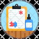 Medical Report Autism Prescription Autism Report Icon
