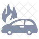 Car Fire Flame Icon