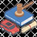 Auto Insurance Law Icon