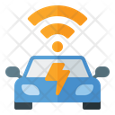 Auto Rechargeable Car System Icon