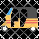 Auto Rickshaw Transport Icon
