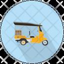 Auto Rickshaw Transport Tuk Tuk Icon