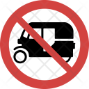 Auto rickshaw not allowed Icon
