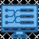 Auto Robot Big Data Blockchain Icon
