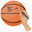 Autograph Signing Basketball Autograph Signature Icon