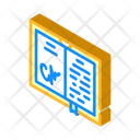 Autographed Book Isometric Icon
