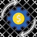 Automated Earning Business Cogwheel Icon