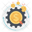 Automated money generation Icon