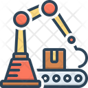 Automated Robotic Arm Manufacturing Loader Icon