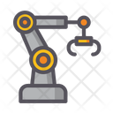 Automated Robotic Arm Automation Manufacturing Icon