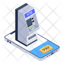 Mobile Atm Automated Teller Machine Digital Banking Icon