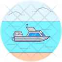 Automatic Motor Boat Delivery Ship Motor Boat Icon