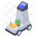 Automatic Trolley Shopping Trolley Automatic Cart Icon