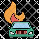 Automobile Car Fire Icon