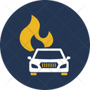 Automobile Car Fire Icon