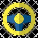 Automotive Steering Car Icon